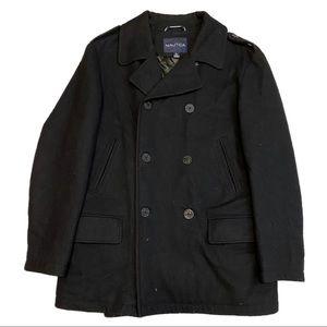 NAUTICA Wool Designer Heavy Peacoat - Black - L